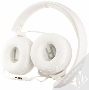 JBL TUNE 500 stereo sluchátka bílá (white) složené zezadu