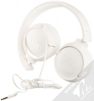 JBL TUNE 500 stereo sluchátka bílá (white) složené