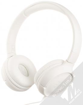 JBL TUNE 500 stereo sluchátka bílá (white) zezadu