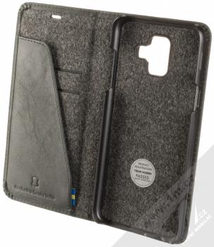 Krusell Sunne FolioWallet flipové pouzdro pro Samsung Galaxy A6 (2018) černá (vintage black) otevřené
