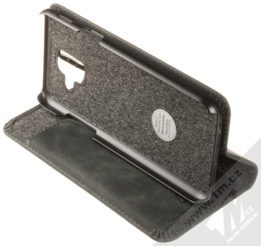 Krusell Sunne FolioWallet flipové pouzdro pro Samsung Galaxy A6 (2018) černá (vintage black) stojánek