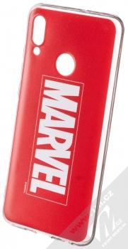 Marvel Logo 001 TPU ochranný silikonový kryt s motivem pro Huawei P Smart (2019) červená (red)