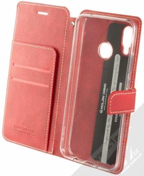 Molan Cano Issue Diary flipové pouzdro pro Huawei Nova 3 červená (red) otevřené