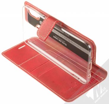 Molan Cano Issue Diary flipové pouzdro pro Huawei Nova 3 červená (red) stojánek