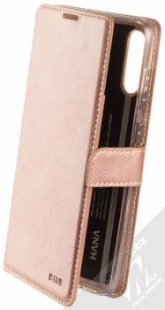 Molan Cano Issue Diary flipové pouzdro pro Samsung Galaxy A70 růžově zlatá (rose gold)