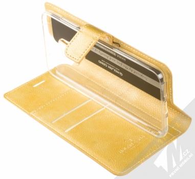 Molan Cano Issue Diary flipové pouzdro pro Xiaomi Pocophone F1 zlatá (gold) stojánek