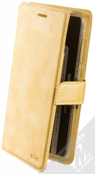 Molan Cano Issue Diary flipové pouzdro pro Xiaomi Pocophone F1 zlatá (gold)
