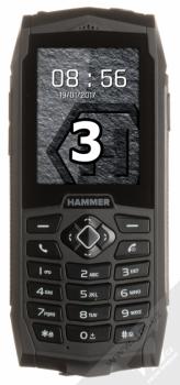 MYPHONE HAMMER 3 černá (black) zepředu