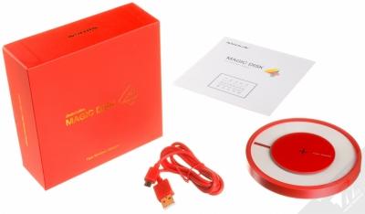 Nillkin Magic Disk 4 základna rychlého bezdrátového Qi nabíjení pro mobilní telefon, mobil, smartphone červená (red) balení