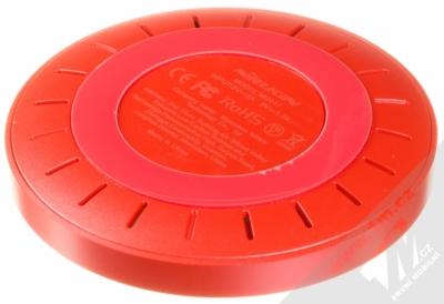 Nillkin Magic Disk 4 základna rychlého bezdrátového Qi nabíjení pro mobilní telefon, mobil, smartphone červená (red) zezadu