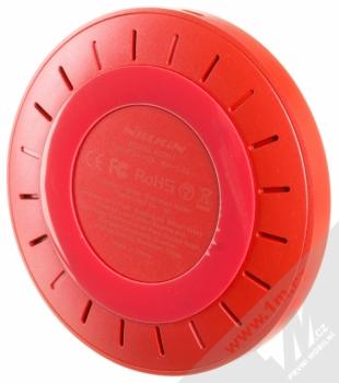 Nillkin Magic Disk 4 základna rychlého bezdrátového Qi nabíjení pro mobilní telefon, mobil, smartphone červená (red) zezdola