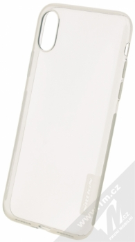 Nillkin Nature TPU tenký gelový kryt pro Apple iPhone X, iPhone XS šedá (transparent grey)