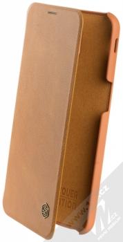Nillkin Qin flipové pouzdro pro Samsung Galaxy J6 Plus (2018) hnědá (brown)