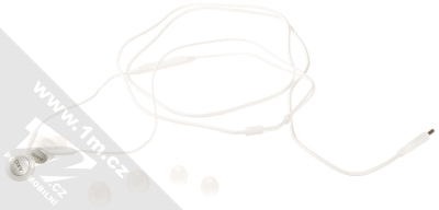 Samsung EO-IC100BW originální stereo headset AKG s tlačítkem a USB Type-C konektorem bílá (white) balení