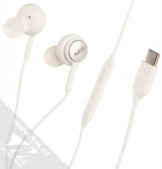 Samsung EO-IC100BW originální stereo headset AKG s tlačítkem a USB Type-C konektorem bílá (white)