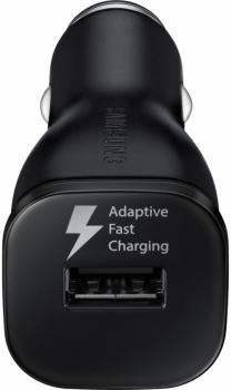 Samsung EP-LN915UB originální nabíječka do auta Adaptive Fast Charging s USB výstupem 1,67A/2A + Samsung ECB-DU4EBE USB kabel s microUSB konektorem černá (black) nabíječka USB konektor