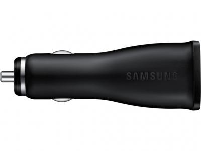 Samsung EP-LN915UB originální nabíječka do auta Adaptive Fast Charging s USB výstupem 1,67A/2A + Samsung ECB-DU4EBE USB kabel s microUSB konektorem černá (black) nabíječka zboku