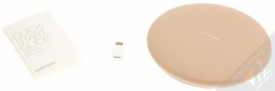 Samsung EP-PG950BD Wireless Charger Convertible podložka pro bezdrátové nabíjení hnědá (brown) balení
