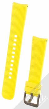 Samsung ET-YSU81MY Active Silicone Band silikonový pásek na zápěstí pro Samsung Galaxy Watch 42mm, Gear Sport žlutá (yellow)
