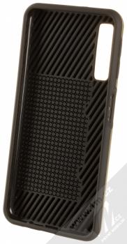 Sligo Defender Card odolný ochranný kryt s kapsičkou pro Samsung Galaxy A7 (2018) zlatá (gold) zepředu