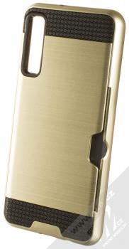 Sligo Defender Card odolný ochranný kryt s kapsičkou pro Samsung Galaxy A7 (2018) zlatá (gold)