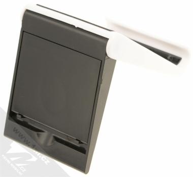 Sligo GreenGo Mobile Stand with Screen Cleaner stojánek s čisticí houbičkou pro mobilní telefon bílá černá (white black) zezadu