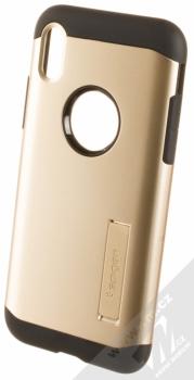 Spigen Slim Armor odolný ochranný kryt se stojánkem pro Apple iPhone X zlatá (champagne gold)