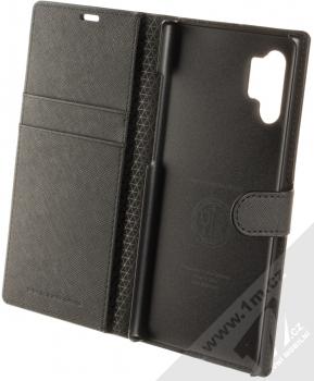 Spigen Wallet S flipové pouzdro pro Samsung Galaxy Note 10 Plus černá (saffiano black) otevřené