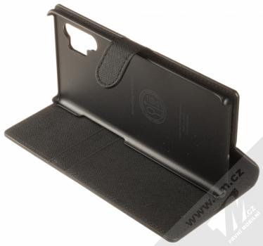 Spigen Wallet S flipové pouzdro pro Samsung Galaxy Note 10 Plus černá (saffiano black) stojánek