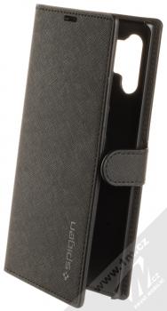 Spigen Wallet S flipové pouzdro pro Samsung Galaxy Note 10 Plus černá (saffiano black)