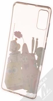 SpongeBob v kalhotách Celý ansámbl 012 TPU ochranný kryt pro Samsung Galaxy A41 průhledná (transparent) zepředu