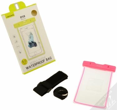 USAMS Luminous 6 vodotěsné pouzdro pro mobilní telefon, mobil, smartphone růžová (pink) balení