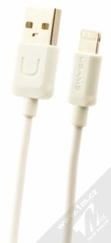 USAMS U-Turn USB kabel s Apple Lightning konektorem bílá (white)