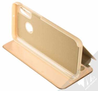 Vennus Clear View flipové pouzdro pro Samsung Galaxy A20e zlatá (gold) stojánek