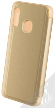 Vennus Clear View flipové pouzdro pro Samsung Galaxy A20e zlatá (gold) zezadu