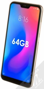XIAOMI MI A2 LITE 4GB/64GB Global Version CZ LTE zlatá (gold) šikmo zepředu