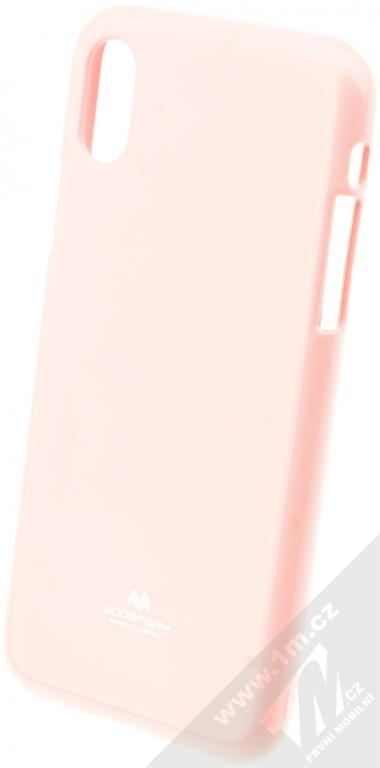 Goospery Jelly Case TPU ochranný silikonový kryt pro Apple iPhone X světle  růžová (light pink c675cf37d02