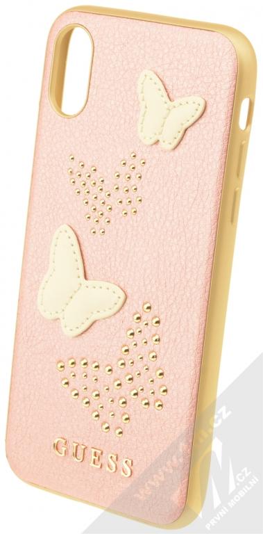Guess Studs and Sparkle Hard Case ochranný kryt pro Apple iPhone X  (GUHCPXPBURG) růžově 15cbf6cbc1c