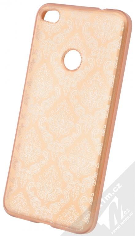 Sligo Ornament TPU ochranný kryt s motivem pro Huawei P9 Lite (2017) růžově  zlatá 3e1dfd21612