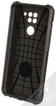 1Mcz Armor odolný ochranný kryt pro Xiaomi Redmi Note 9 černá (all black) zepředu