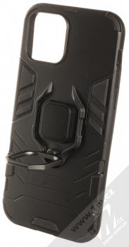 1Mcz Armor Ring odolný ochranný kryt s držákem na prst pro Apple iPhone 12 Pro černá (black) otevřené