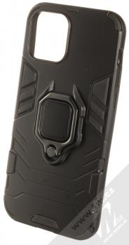 1Mcz Armor Ring odolný ochranný kryt s držákem na prst pro Apple iPhone 12 Pro černá (black)