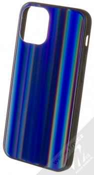 1Mcz Aurora Glass Cover ochranný kryt pro Apple iPhone 12 mini měnivě modrá (iridescent blue)