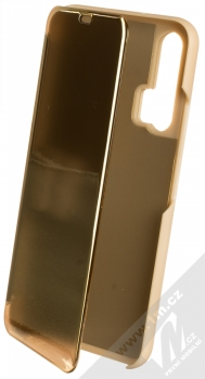 1Mcz Clear View flipové pouzdro pro Honor 20 Pro zlatá (gold)