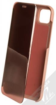 1Mcz Clear View flipové pouzdro pro Huawei Y5p, Honor 9S růžová (pink)