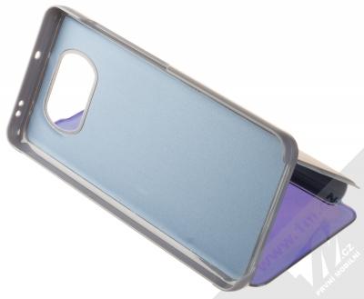 1Mcz Clear View flipové pouzdro pro Xiaomi Poco X3 NFC, Poco X3 Pro modrá (blue) stojánek