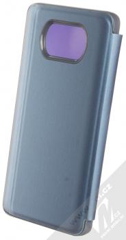 1Mcz Clear View flipové pouzdro pro Xiaomi Poco X3 NFC, Poco X3 Pro modrá (blue) zezadu