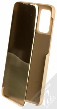 1Mcz Clear View flipové pouzdro pro Samsung Galaxy A32 5G zlatá (gold)