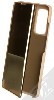 1Mcz Clear View flipové pouzdro pro Xiaomi Mi 10T 5G, Mi 10T Pro 5G zlatá (gold)
