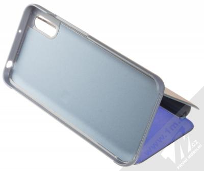 1Mcz Clear View flipové pouzdro pro Xiaomi Redmi 9A modrá (blue) stojánek